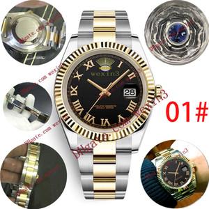 14 Luxury Man Watch Dat. ejust 41mm Automatic 2813 Roman Font Dial Oyster Silver Jubilee Bracelet Serrated Border Waterproof Mens Watches