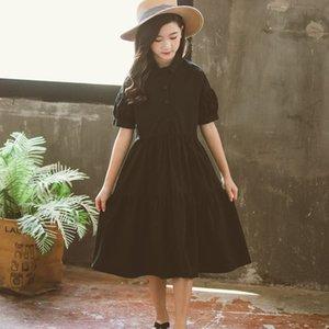 100% coton Big Girls Dress New Été 2020 adolescente Robes Casual Kids Party Princess Dress Patchwork Vêtements pour enfants