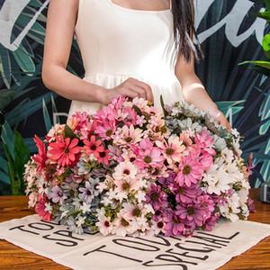 Decoração da festa de casamento de seda Crisântemo Artificial Flores 25Heads do ramo da flor Falso Flores Moda Início Jardim