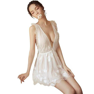 2019 Lace Sex Clothes Slutty Porno Dress Transparent Lingerie Sexy Hot Erotic Women Evening Nighty Baby Doll LY191224