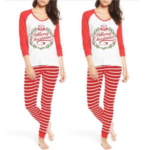 Navidad de las mujeres pijamas Set 2018 ciervos Nueva otoño invierno para adultos Elk camisones de algodón ropa de dormir pijamas 2pcs Trajes Traje S-XL