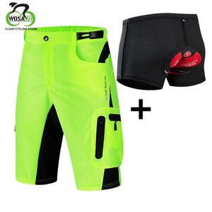 WOSAWE Men's Downhill Cycling Shorts Water Resistence Thin Breathable Riding Clothing Bicycle Sportswear MTB Bike Shorts Tight