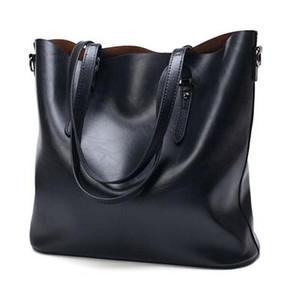Borsa del progettista delle donne in pelle Challen modo delle donne borsa di cera grande capacità Tote Bag grandi signore Shoulder Bags marca famosa Bolsas Feminina