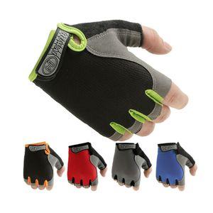 Лето фитнес перчатки тренажерный зал тяжелая атлетика велоспорт йога бодибилдинг обучение тонкий дышащий нескользящей половина палец перчатки для лета