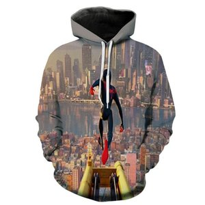 Spider 3D Digital Print Loose Mens Hoodies Spring Fashion Hero Cartoon Mens Sweatshirts
