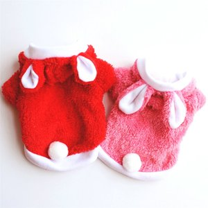 Winter Pet Dog Clothes For Small Dogs Cute Rabbit Ear Hooded Dog Coat Jacket Costume For Puppy Chihuahua Hoodie Clothing Apparel