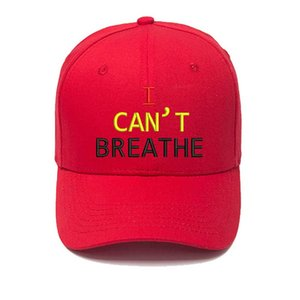 7 Colors I CAN'T BREATHE Baseball Cap Embroidery Hat For Men Women Outdoors Cycling Baseball Cap Hat Breathable MZ0202
