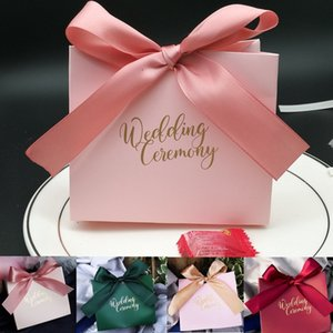 Bolsos de moda Bowknot Candy Candy Body Bridal Favors Favor de caramelo Favorecer 10 colores para las opciones