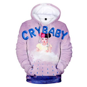 Teenager Girl Women Hoodie Designer Crybaby 3D stampato Felpe con cappuccio Pullover carini