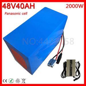 48V 40AH bici elettrica della batteria agli ioni di litio uso Panasonic cellulare motorino 1500W 1800W 2000W Ebike Motor