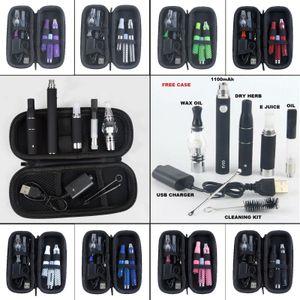 BULK 4 in 1 EVOD Starter Vape pen 1100 MAH Dry herb mini Kit Herbal wax Kits