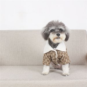 Frühling Warm Pet Coats klassischer Brief gedruckt Schnauzer Jacken Outdoor verdicken Muster Haustier Hund Katze Bekleidung
