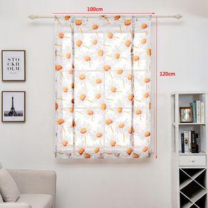 100 * 120cm Cortina Flor Impresso curtas cortinas simples moderno Quarto Sala Tulle Janela Drape Valance Home Decor DBC DH0899-2
