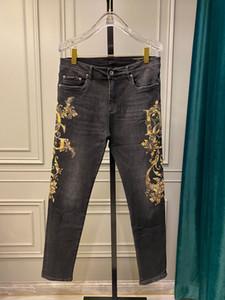Модные мужские джинсы denim slim fit jeans pour hommes hot sale дизайнерские джинсы длинные брюки бегуны уличная одежда дизайнерские брюки