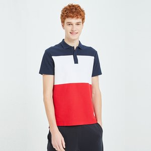 DUYOU New Men's Color Block Breathable Convex Mesh Tennis Polo Shirt summer men polo shirt male shirts jerseys brand clothing