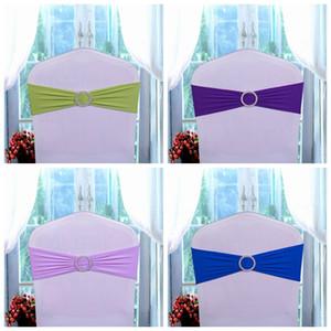 Chair matrimonio compleanno fasce della sedia della copertura del telaio elastico Papillon festa di nozze fibbia fusciacche Bowknot della decorazione colori disponibili DBC DH0682