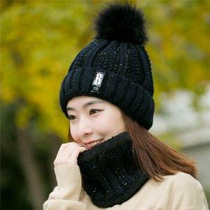 Hat weiblichen Winter wilden plus Samt warme Herbst und Winter Damen süße nette gestrickte Wollmütze