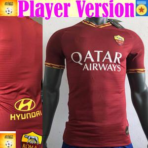 Oyuncu versiyonu DZEKO PEROTTI PASTORE ZANIOLO futbol forması roma 2019 TOTTI forması 19 20 maillot de ayak olarak futbol takımı gömlek DE ROSSI 2020