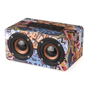 Graffiti Wireless Speaker Bluetooth Altoparlanti portatili Bluetooth Stereo 3D HiFi TF FM Soundbar per IPhone X XS Max Samsung Car Music Speakers