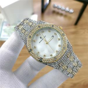 Couleurs Mens Fashion Watch Royal Oak Luxury Designer Diamant Glacé Montres Mouvement en acier inoxydable Quartz bling ap Parti Wristwatch afp5
