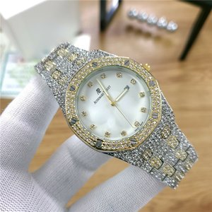 Farben Mens Fashion Watch Royal Oak Luxuxentwerfer Diamant Iced Out Uhren Edelstahl Bling Quarz ap Bewegungspartei Armbanduhr afp5