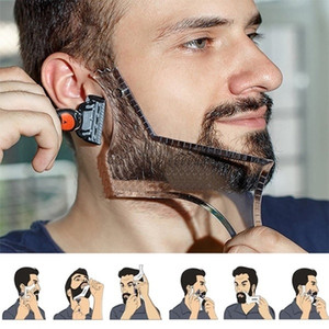 Men Beard Shaping Styling Tool with Inbuilt Comb for Perfect Line Up Beard Shaping Template Double-sided Beard Style Comb
