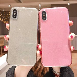 Transparent Shiny Glitter Case For iPhone 11 Pro Max Soft TPU Anti-fall Phone Cover For iphone XS XR 8 7 Plus