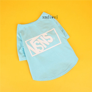 Colourful Letter Fashion Pet T-shirt Cute Pet Dog Cat Cotton T Clothes Small Puppy Soft Summer Spring Apparel With Letter Cat Clothing