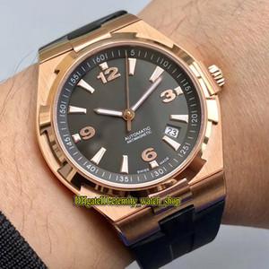 Лучший вариант 8F Overseas 47040 / 000R-9666 Black Дата циферблатом Япония Miyota 9015 Автоматическая Мужские часы 316L стальной корпус резиновый ремешок Спортивные часы