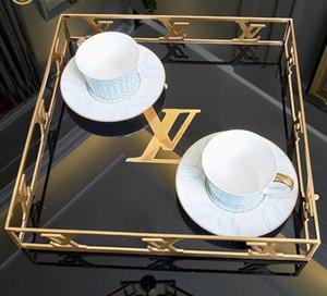 Rechteckiges Modellzimmer des kreativen Hauses des Luxusdesigners Wohnzimmer-Couchtischnachmittags-Tee der amerikanischen Art hölzerne Geschirrbehälterdekoration