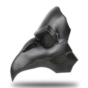 Retro PVC-Art Punk-Masken-Halloween-Geschenk-Haut-Schwarz-Masken für Doktor Mask Long Nose Punk