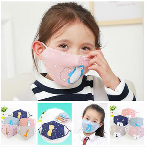 Animali del fumetto bambini maschera di cotone anti-inquinamento carino maschera bocca Bambini in bicicletta Indossando antivento Anti-Polvere Maschere