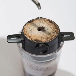 Filtro de café portátiles del acero inoxidable 304 de goteo de café té Cestas titular de embudo reutilizable té de infusión y puesto de café Gotero
