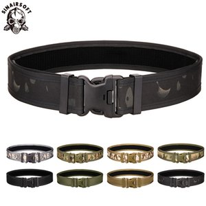 Outdoor Combat 2 Inch Canvas Duty Tactical Sport Belt With Plastic Buckle Army Military Adjustable Fan Hook & Loop Waistband
