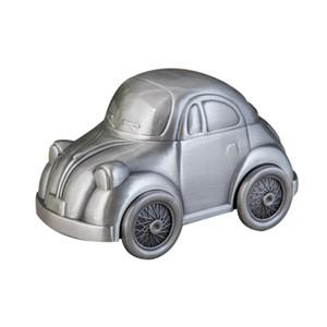 En forma de aleación de zinc coche del banco de moneda de la vendimia de la alta calidad del estaño Acabado hucha de coches regalos Ahorro dinero Metal Box manualidades para niños Boy