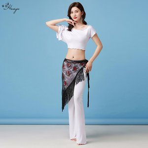 Huayu Scarf Dance costume belly dance clothing modal loose bat sleeve trousers tassel triangle scarf practice clothing beginners