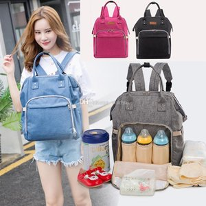 Mommy Backpack Nappies Bags Fashion Mother Maternity Multifunction Diaper Backpacks Large Volume Outdoor Travel Bags 7 Color DHL Free WX-B29