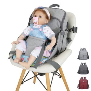 Large Capacity Diaper Bag Pure Color Mummy Baby Care Nappy Bag Waterproof Business Multi-function Backpack Travel Baby