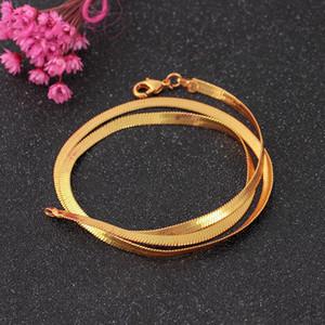 Nouveau collier d'argent simple chaîne nue chaîne d'os de serpent plat courte chaîne de bijoux lame de la clavicule pour les hommes et les femmes