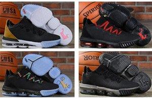 cheap mens new lebron 16 basketball shoes for sale Purple Yellow Glow dark MVP lebrons james sneakers tennis wholesale