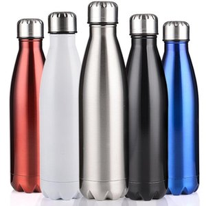 Commercio all'ingrosso bottiglia di vuoto boccetta di acqua Cup Sport 304 in acciaio inox Cola tazze Forma Vacuum Insulation tazze da 500 ml tazza di trasporto