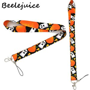 Halloween Pumpkin Neck Strap Lanyard keychain Mobile Phone Strap ID Badge Holder Rope Key Chain Keyrings cosplay Accessory Gifts