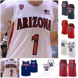 Personalizado Arizona Wildcats Basketball Jersey faculdade Josh Verde Christian Koloko Nico Mannion Zeke Nnaji Gilbert Arenas Max Hazzard Ayton