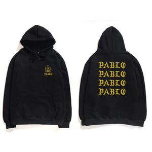 Hip Hop Hoodies Men I Feel Like Pablo West Streetwear Hoodie Sweatshirts Letter Print Hoodie Hoodie Club 9YEYL454