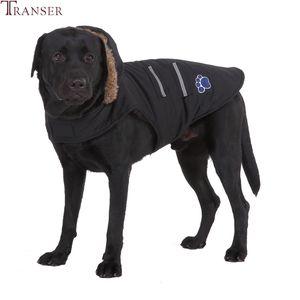 Transer Golden Repiver Big Dog Jacket Giacca Cappotto Faux Pelliccia Felpa con cappuccio Outfit Inverno caldo Pet Dog Vestiti per Piccolo cane medio grande 9822 T191116
