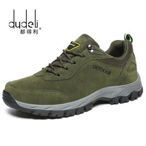 DUDELI Мужчина Большого размер 39-49 Мода Мужской обуви Комфортные Водонепроницаемая Открытая Повседневная обувь Lace-Up Весна Осень Rubber