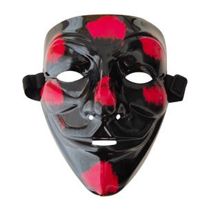 Halloween incandescente mascherina del partito LED mascherina del fantasma di faida V Maschere Cosplay illumina in su Clown Maschere nuova GGA2750