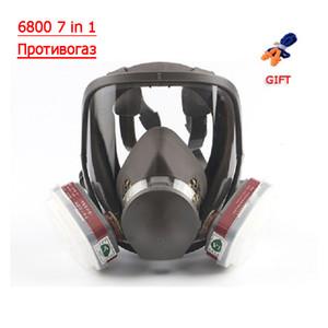 6800 7 1 Benzin Formaldehit Gaz Aktif Karbon Maske Sprey Organik Asit Gaz Koruma Yayma Chemical için tam yüz Maske