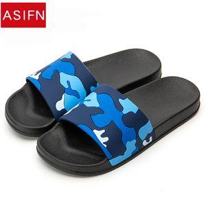 ASIFN Zapatillas para hombre Chanclas Camo Diapositivas casuales Zapatos de playa antideslizantes Sandalias de verano 4 colores Zapatos hombre