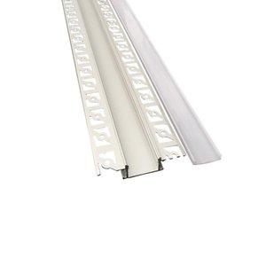 Encastré Aluminium Led profil pour l'intérieur d'angle mur encastré conduit Profilé Aluminium et 61mm large T -forme Led Alu extrusion pour mur